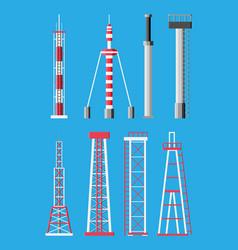 transmission cellular tower antenna vector image