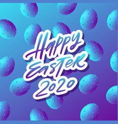 Trendy neon color poster with colorful eggs with vector
