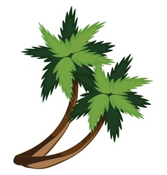 Two cartoon palms vector image