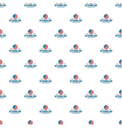 us veterans day pattern seamless vector image