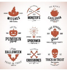Vintage Typography Halloween Badges or Logos vector image