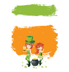 with leprechaun vector image