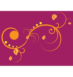 Yellow floral ornament vector image