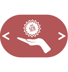 arm of gift icon vector image