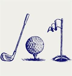 Golf set vector image vector image