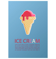 ice cream vintage retro background vector image