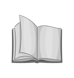 Open book icon black monochrome style vector image vector image