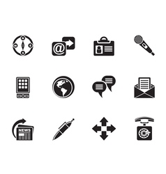 Silhouette Business and Internet icons vector image vector image