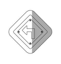 sticker silhouette metallic diamond frame turn vector image vector image