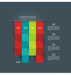 Abstract 3D Infographic vector image vector image