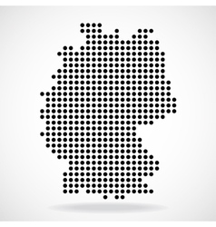 Abstract map of Germany from round dots vector image