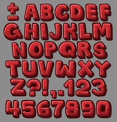 Alphabet red vector image vector image