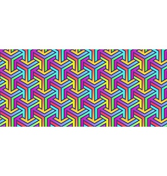 Colored Geometric Pattern vector image