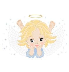 little angel vector image vector image