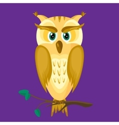 Owl on a Dark Background vector image vector image