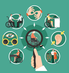 disabled person composition vector image