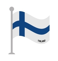 finland patriotic flag isolated icon vector image