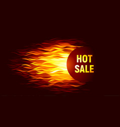 hot sale offer on fire background vector image