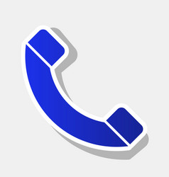 phone sign new year bluish vector image