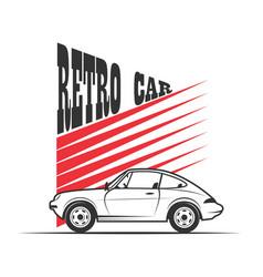 retro car - vector image vector image