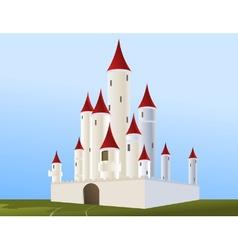 white castle vector image vector image