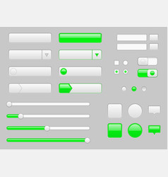 white web interface buttons slider and icons with vector image