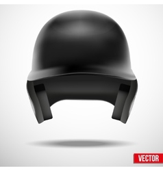Baseball helmet front view isolated vector image vector image