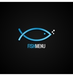 Fish Logo Design Dorado Background vector image