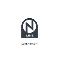 On Line - logo design template icon or des vector image vector image
