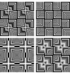 seamless op art patterns vector image vector image