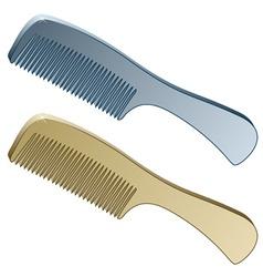 3d metallic combs vector