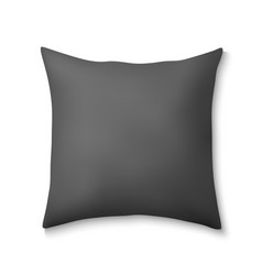 3d realistic square pillows vector image