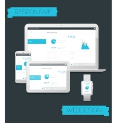 Adaptive webdesign technology mockup vector