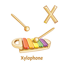 alphabet letter x xylophone vector image