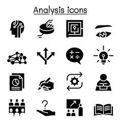 Analysis icon set vector