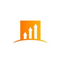 arrow business finance chart logo vector image