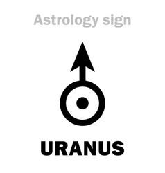 Astrology planet uranus vector