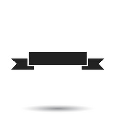 badge icon ribbon in flat style on white vector image
