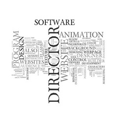 benefits of website design with director text vector image
