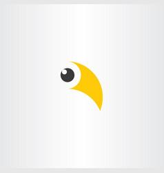 Bird beak and eye logo symbol vector