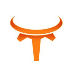 Buffalo engineering symbol logo design vector