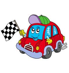 car race starter vector image