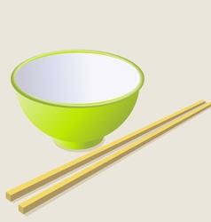 ceramic mug with wooden sticks vector image