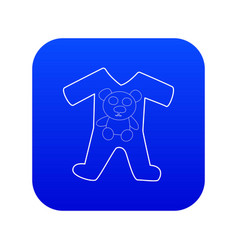 Children romper suit icon blue vector