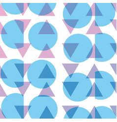 Circle and triangle memphis style background vector