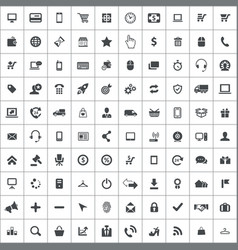 E-commerce 100 icons universal set for web and ui vector