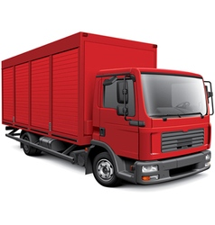 European box truck vector image