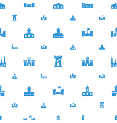 Fairytale icons pattern seamless white background vector