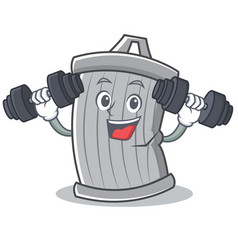 fitness trash character cartoon style vector image