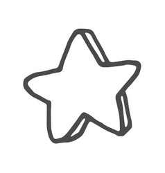 freehand drawn cartoon decorative stars doodle vector image